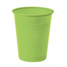 Bicchiere di Plastica PS Verde 200ml Ø7cm (50 Pezzi)