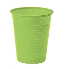 Bicchiere di Plastica Verde PS 200ml (50 Pezzi)