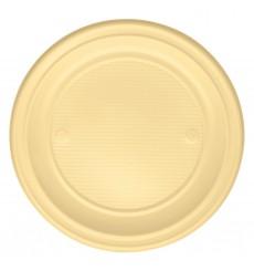 Piatto di Plastica Piano Verde PS 220mm (30 Pezzi)