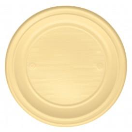 Piatto di Plastica Piano Crema PS 220mm (780 Pezzi)