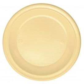 Piatto di Plastica Fondo Crema PS 220mm (30 Pezzi)