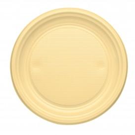 Piatto di Plastica Piano Crema PS 170mm (50 Pezzi)
