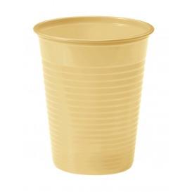 Bicchiere di Plastica PS Crema 200ml Ø7cm (50 Pezzi)