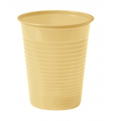 Bicchiere di Plastica Crema PS 200ml (50 Pezzi)