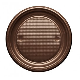 Piatto di Plastica PS Piano Cioccolata Ø170mm (50 Pezzi)