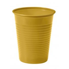 Bicchiere di Plastica PS Oro 200ml (50 Pezzi)