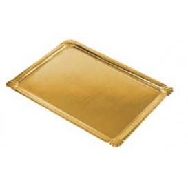 Vassoio di Cartone Rettangolare Oro 22x28cm (100 Pezzi)