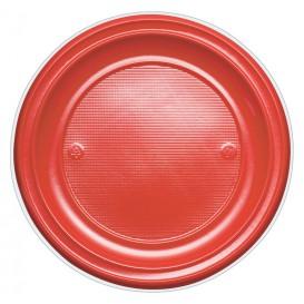 Piatto di Plastica Piano Oro PS 220mm (30 Pezzi)