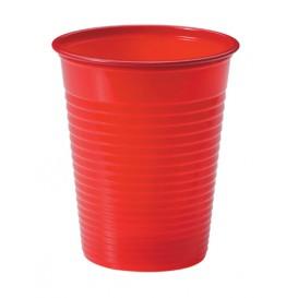 Bicchiere di Plastica PS Rosso 200ml Ø7cm (50 Pezzi)