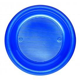 Piatto di Plastica PS Fondo Blu Scuro Ø220mm (30 Pezzi)