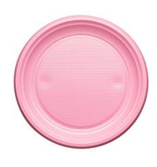 Piatto di Plastica Piano Rosa PS 170mm (50 Pezzi)