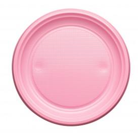 Piatto di Plastica Piano Rosa PS 170mm (1100 Pezzi)