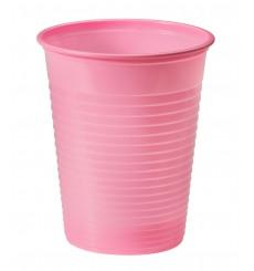 Bicchiere di Plastica Rosa PS 200ml (50 Pezzi)