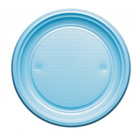 Piatto di Plastica Piano Blu Scuro PS 170mm (50 Pezzi)
