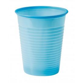 Bicchiere di Plastica PS Azzurro 200ml Ø7cm (1500 Pezzi)
