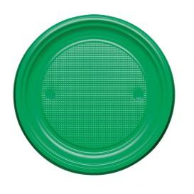 Piatto di Plastica PS Piano Verde Ø170mm (1100 Pezzi)