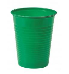 Bicchiere di Plastica Giallo PS 200ml (50 Pezzi)