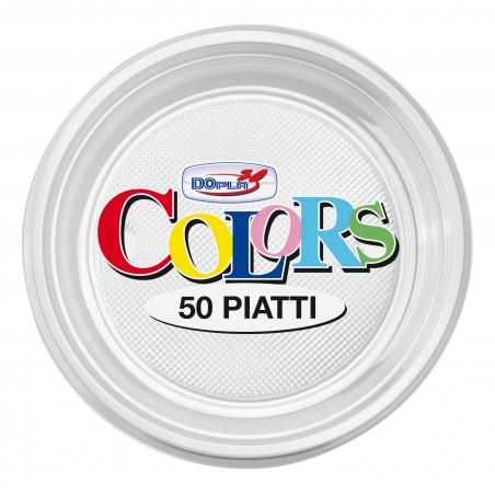 Piatto di Plastica Piano Transparente PS 170mm (1100 Pezzi)