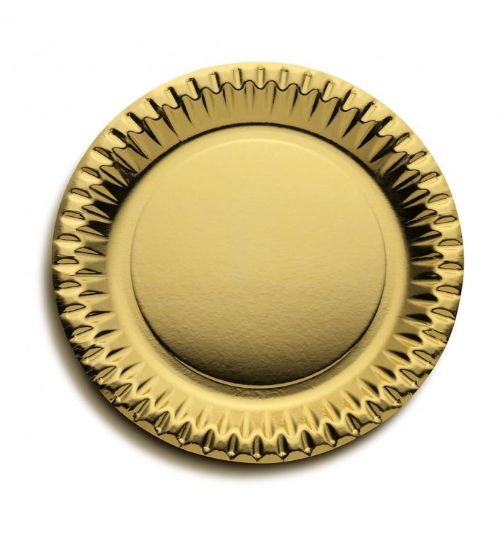 Piatto di Carta Tondo Argento 230mm (10 Pezzi)