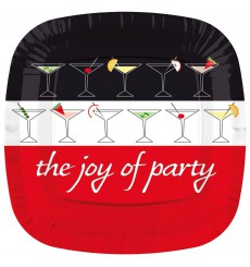 Piatto di Plastica Piazza Piano  ''Joy of Party'' 230mm (8 Pezzi)