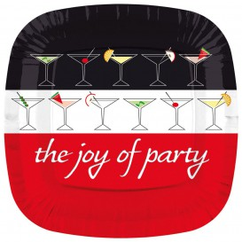 Piatto di Plastica Piazza Piano ''Joy of Party'' 170mm (8 Pezzi)
