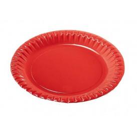 """Piatto di Carta Tondo """"Party"""" Rosso 180mm (300 Pezzi)"""