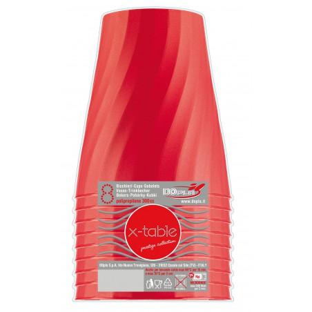 Bicchiere di Plastica Arancione PP 320ml (8 Pezzi)