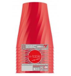 """Bicchiere di Plastica PP """"X-Table"""" Rosso 320ml (128 Pezzi)"""