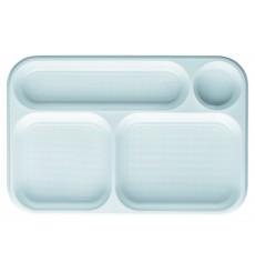 Vaschette Bianco 4 Scomparti 360x240mm (300 Pezzi )