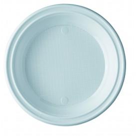 Piatto di Plastica PS Fondo Bianco 205mm (100 Pezzi)