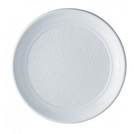 Piatto di Plastica PS Piano Bianco 250mm (800 Pezzi)