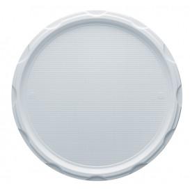 Piatto Plastica PS Pizza Bianco 320mm (100 Pezzi)