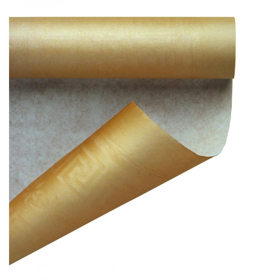 Tovaglia Nera E Oro tovaglia di carta rotolo oro 1,2x7m (25 pezzi)