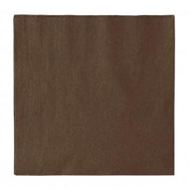 Tovagliolo di Carta 2 Velis Marrone 33x33cm (50 Pezzi)