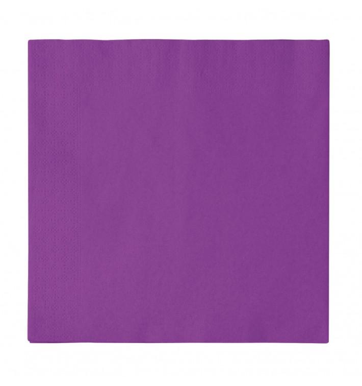 Tovagliolo di Carta 2 Velis Viola 33x33cm (50 Pezzi)
