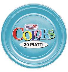 Piatto di Plastica PS Fondo Turchese Ø220mm (600 Pezzi)