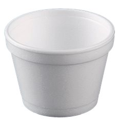 Coppette Termici EPS Bianco 8OZ/355ml Ø108mm (500 Pezzi)