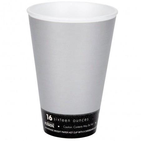 "Bicchiere Termici EPS ""Fusion"" Grigio 16Oz/473ml Ø94mm (25 Pezzi)"