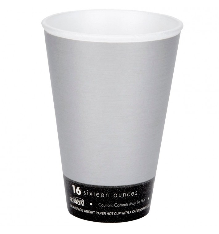 "Bicchiere Termici Fusion ""Steele"" 16Oz/473ml Ø9,4cm (1000 Pezzi)"