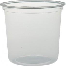 """Contenitore di Plastica PP """"Deli"""" 24Oz/710ml Trasp. Ø120mm (25 Pezzi)"""