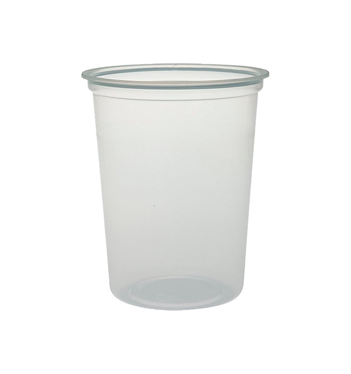 """Contenitore di Plastica PP """"Deli"""" 32Oz/960ml Trasp. Ø120mm (500 Pezzi)"""