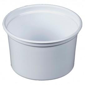 """Contenitore di Plastica PP """"Deli"""" 16Oz/473ml Bianco Ø120mm (25 Pezzi)"""
