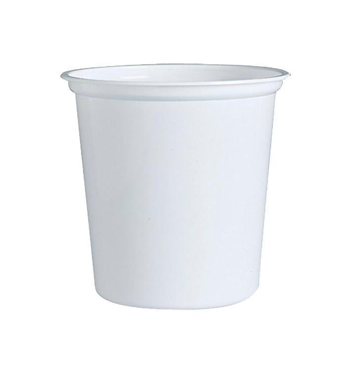 """Contenitore di Plastica PP """"Deli"""" 32Oz/960ml Bianco Ø120mm (25 Pezzi)"""
