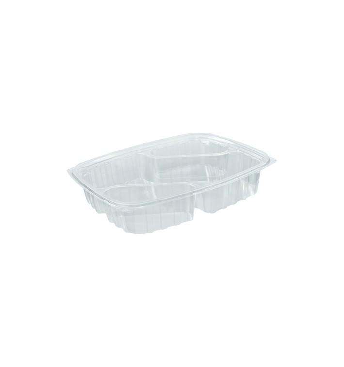 """Contenitore di Plastica OPS """"Clear Pac"""" 3 C. Diagonale Transp. 887ml (63 pezzi)"""