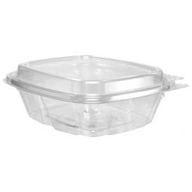 Contenitore Inviolable di Plastica PET Coperchio Alta 240ml (100 Pezzi)