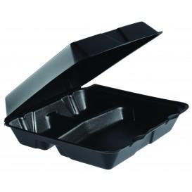 Contenitori EPS MenuBOX Grande 3 Sco. Nero 240x235mm (200 Pezzi)