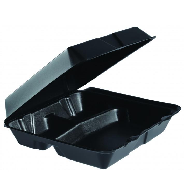 Contenitori EPS MenuBox 3 Sco. Nero 240x235mm (100 Pezzi)