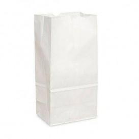 Sacchetto di Carta Kraft Bianco 15+9x28cm (25 Pezzi)