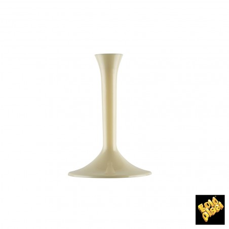 Coppa di Plastica da Champagne Gambo Grigio 200ml (20 Pezzi)