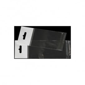 Sacchetti Polipropilene BOPP Piega Adesivo e Foro Europeo 12x18cm G160 (100 Pezzi)